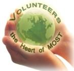 Volunteer world in hand